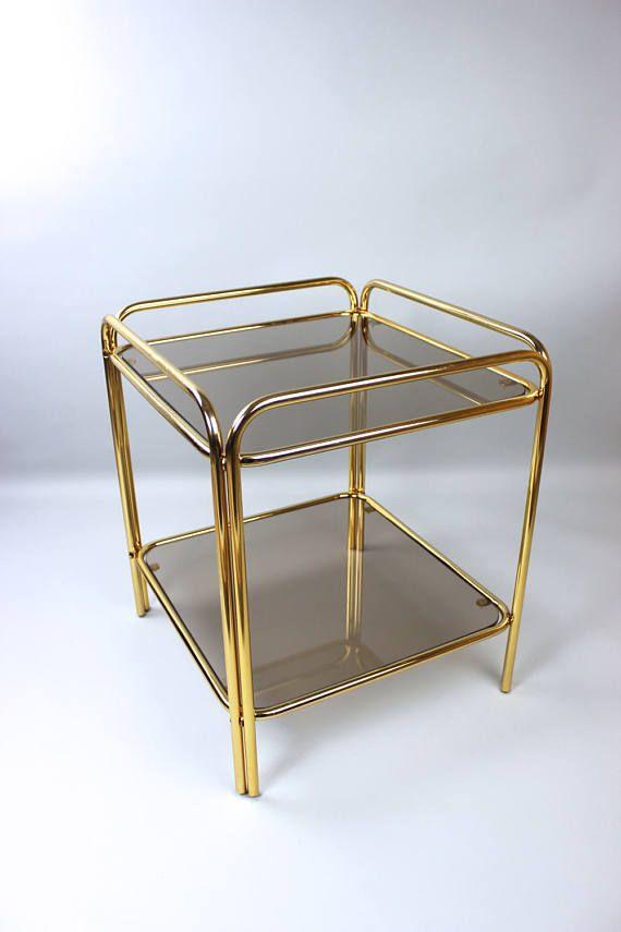 Aus Was Besteht Messing vintage coffee table beistelltisch tisch wohnzimmertisch