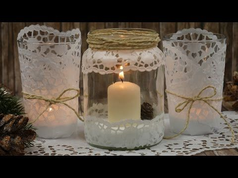 diy winter windlicht glitzer glitter selbstgemacht tutorial weihnachten youtube glass. Black Bedroom Furniture Sets. Home Design Ideas