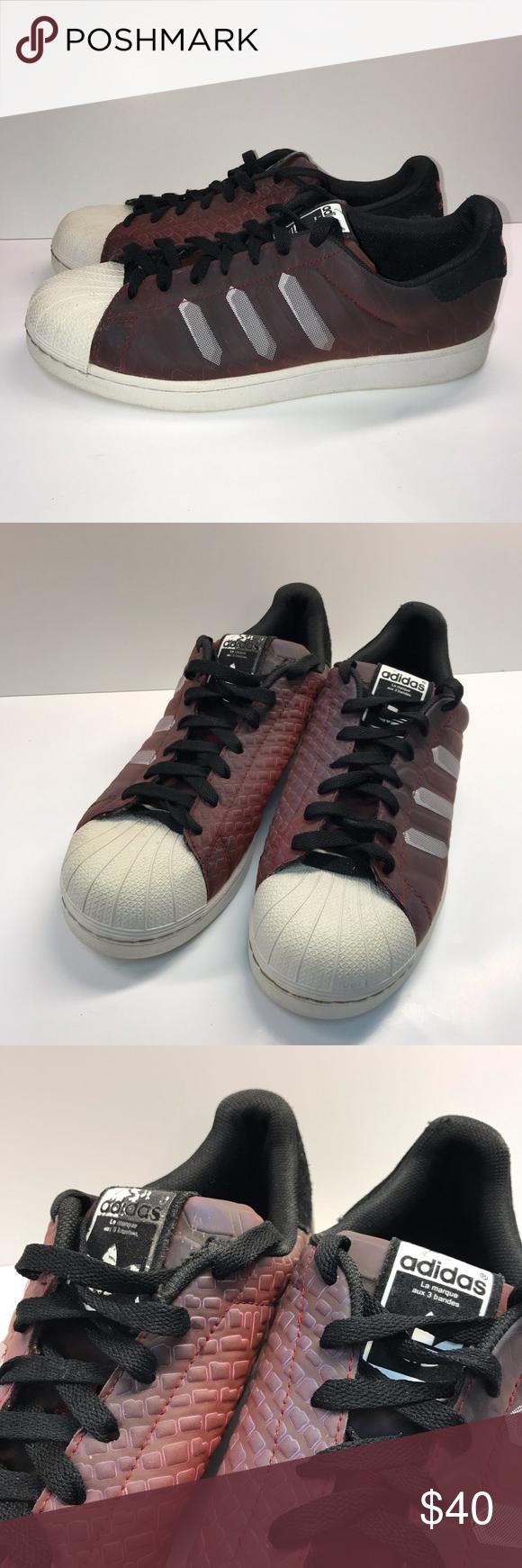 big sale 3c923 4e6d0 Adidas Superstar Chromatech Sneakers Burgundy 9 adidas Superstar CTXM  Chromatech Sneakers BurgundyWhite 9 (
