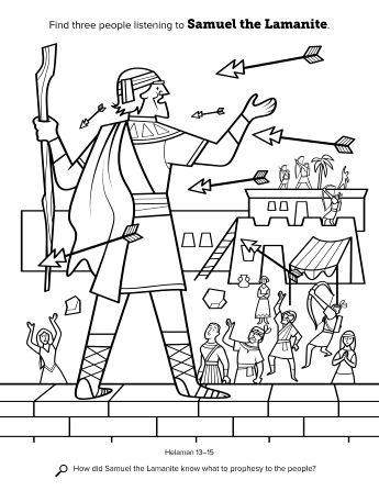 Samuel The Lamanite Book Of Mormon Scriptures Book Of Mormon Scriptures For Kids