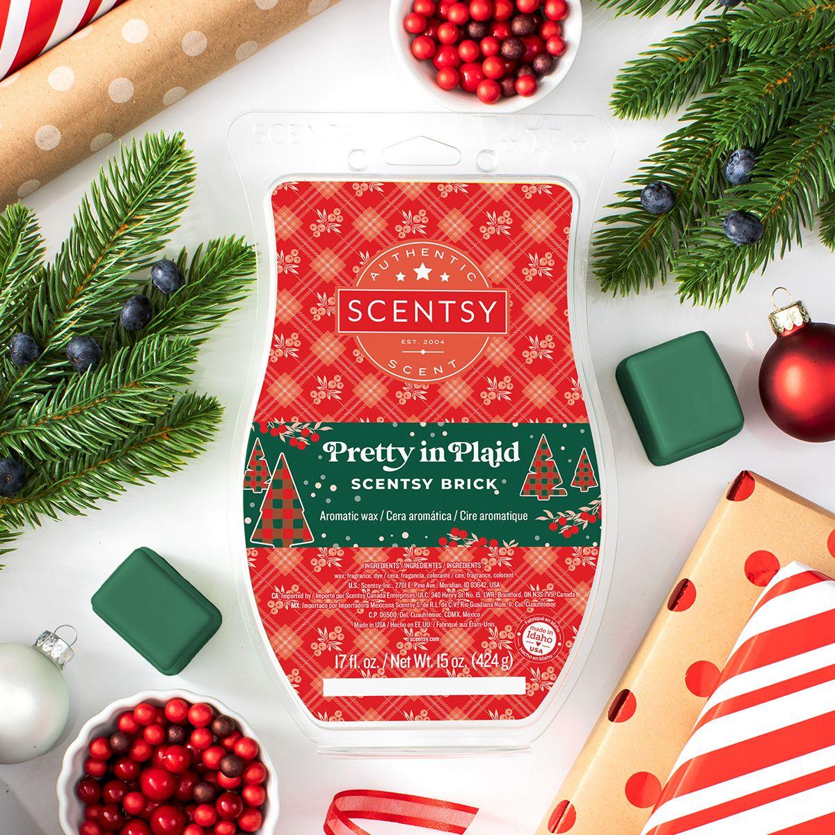 Pretty In Plaid Wax Brick Releases 11 1 In 2020 Scentsy Brick Scentsy Seasonal Scents