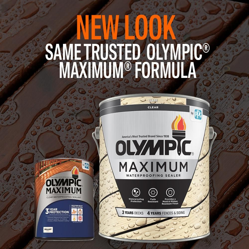 Olympic Maximum 1 Gal Clear Exterior Waterproofing Sealant 57500a 01 The Home Depot In 2020 Sealant Wood Sealer Mildew Stains