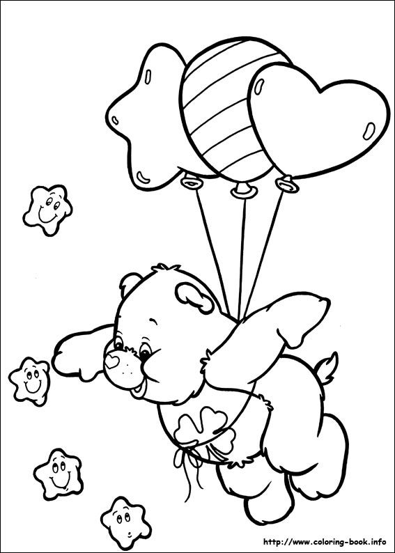 The Care Bears Coloring Picture Bear Coloring Pages Disney Coloring Pages Coloring Books