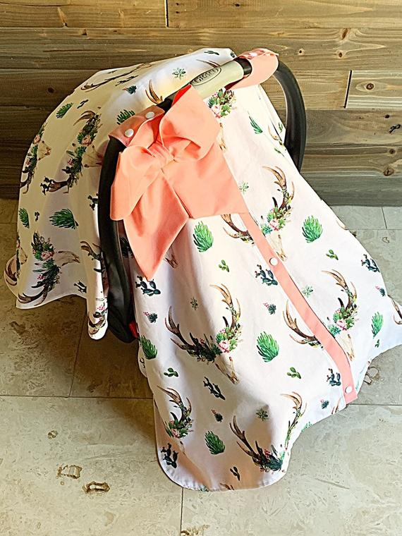 Swell Car Seat Canopy Boho Girl Cactus Baby Carseat Cover Baby Gmtry Best Dining Table And Chair Ideas Images Gmtryco