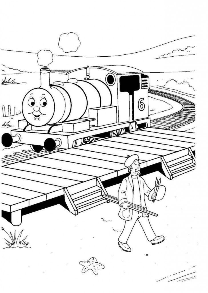 thomas coloring pages train engineer - photo#9