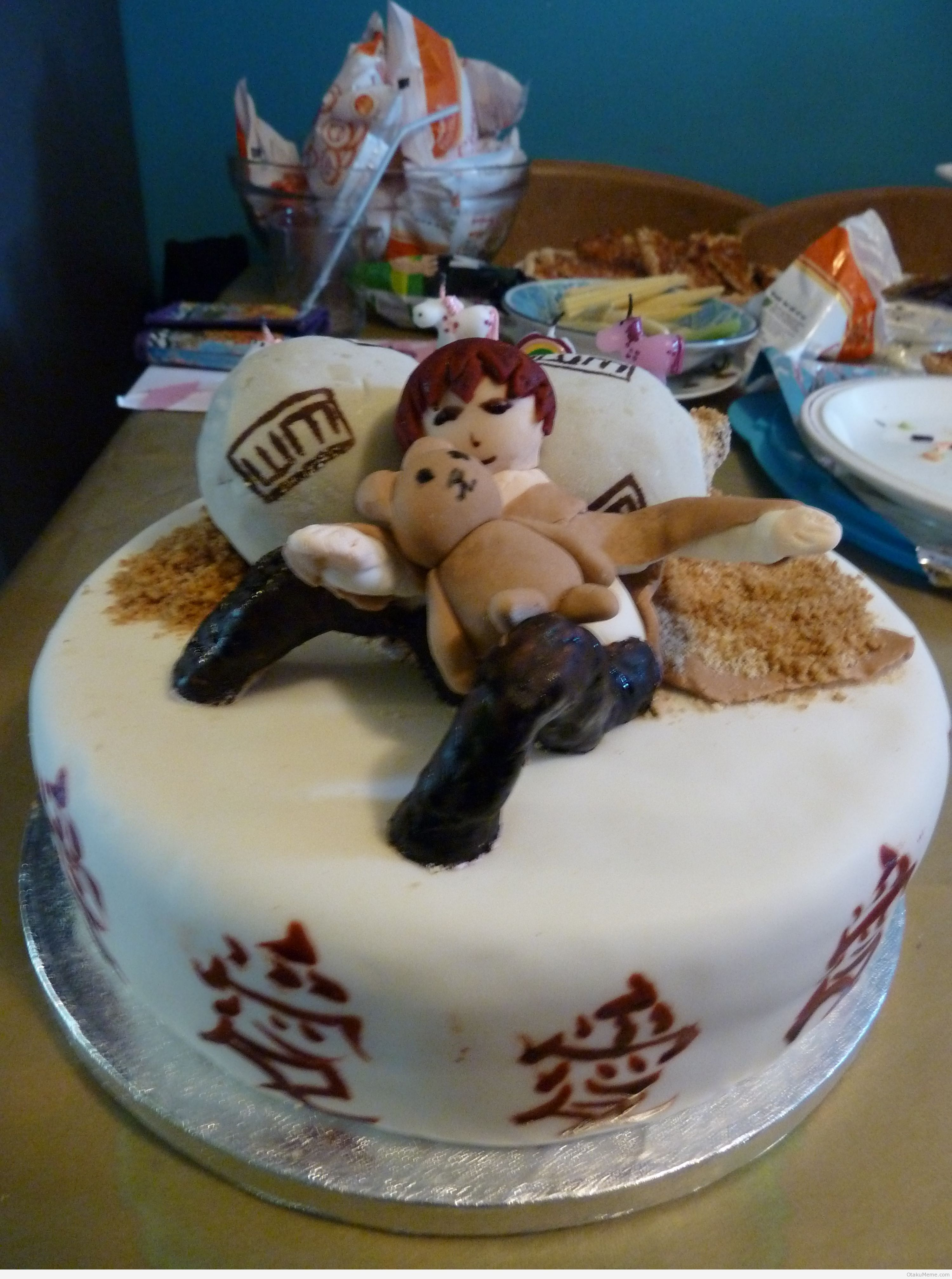 Th Birthday Cake Gaara From Naruto Oh How I Wish Someone Would - Funny 16th birthday cakes