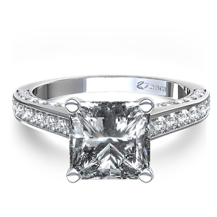 princess cut engagement rings ctw glamorous princess cut diamond engagement ring - Princes Cut Wedding Rings