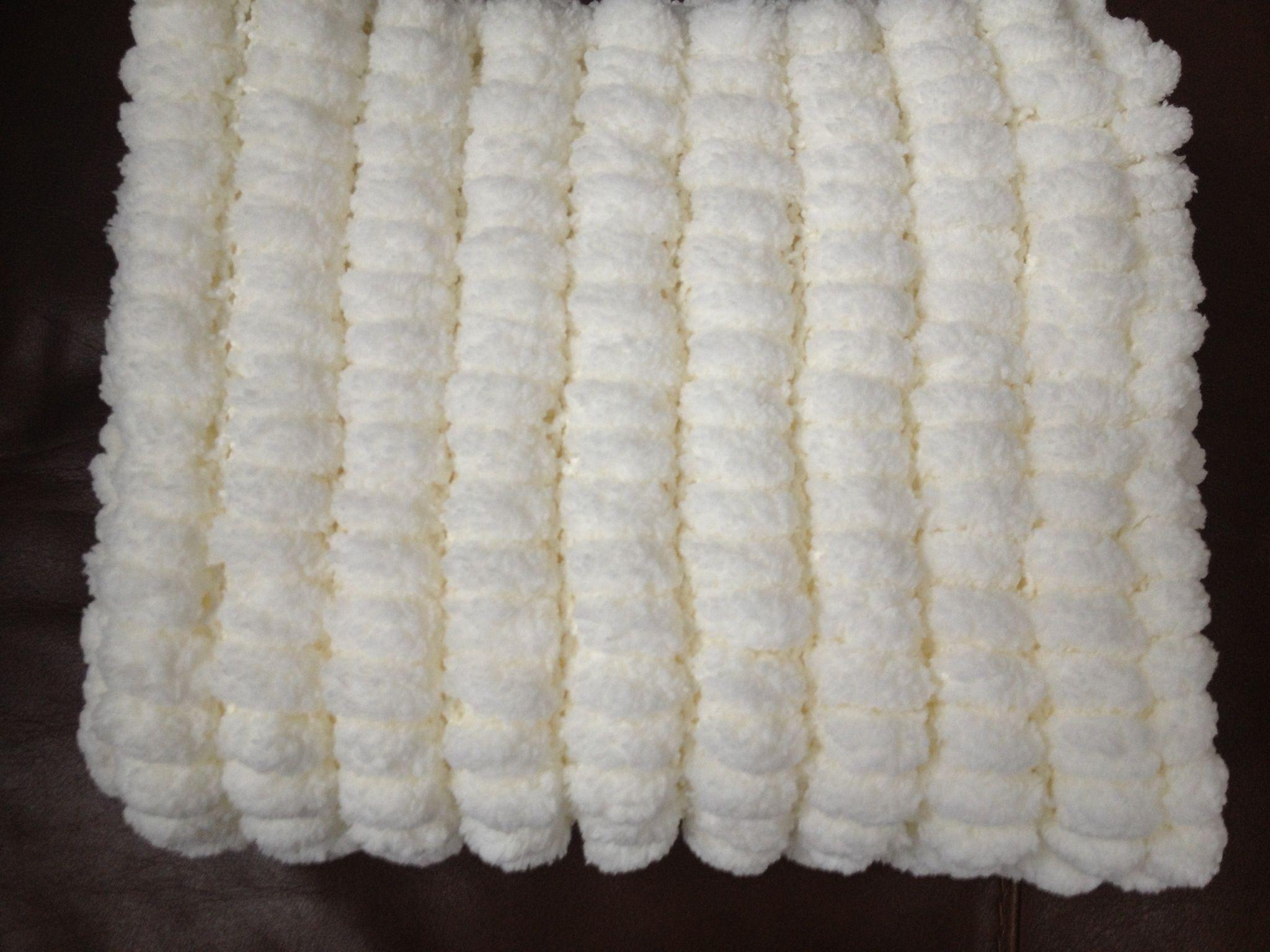 White Pom Pom Rug
