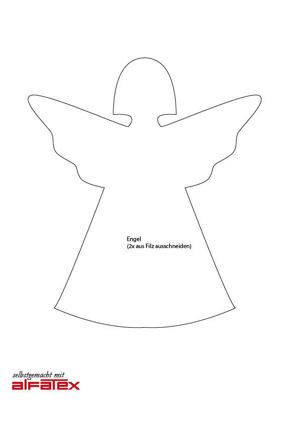 Schnittmuster für einen süßen Engel aus Filz! Die Anleitung dafür ...