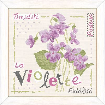 Point de croix - coté jardin - la violette 153 x 150 points J007