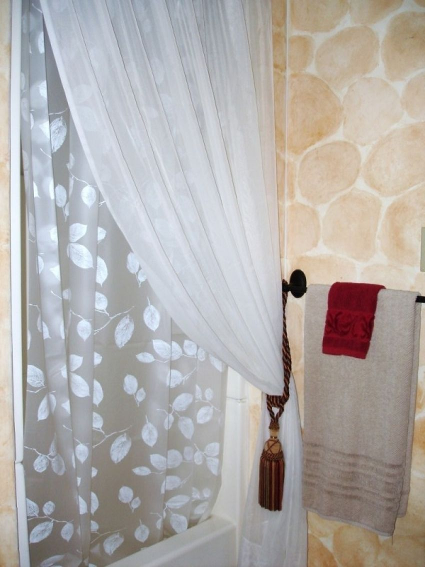 Tie Back Shower Curtains With Valance