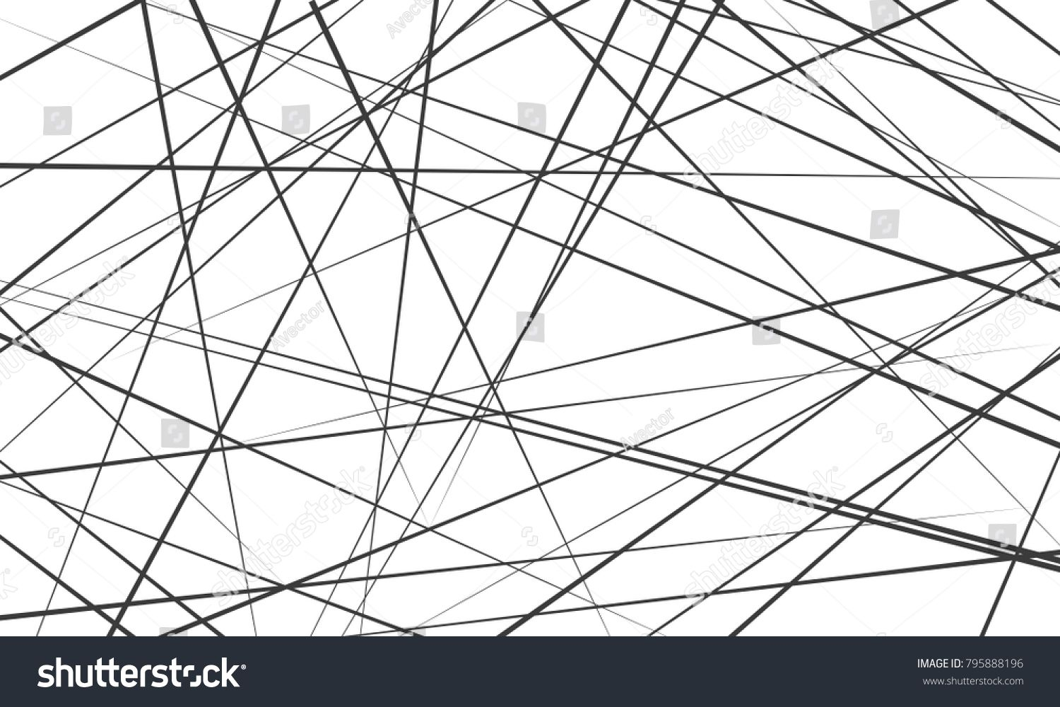 Chaotic Abstract Lines Abstract Geometric Pattern Background
