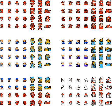Final fantasy 1 sprite sheet google search perlers for Monster advanced search