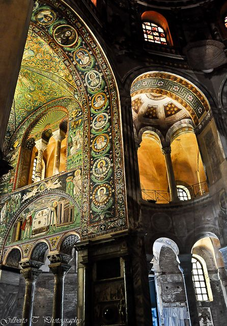 """Side view of the choir of San Vitale basilica, Ravenna, Italy"