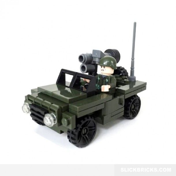 Army Command Jeep - Lego Compatible Toy | Lego | Pinterest | Lego ...