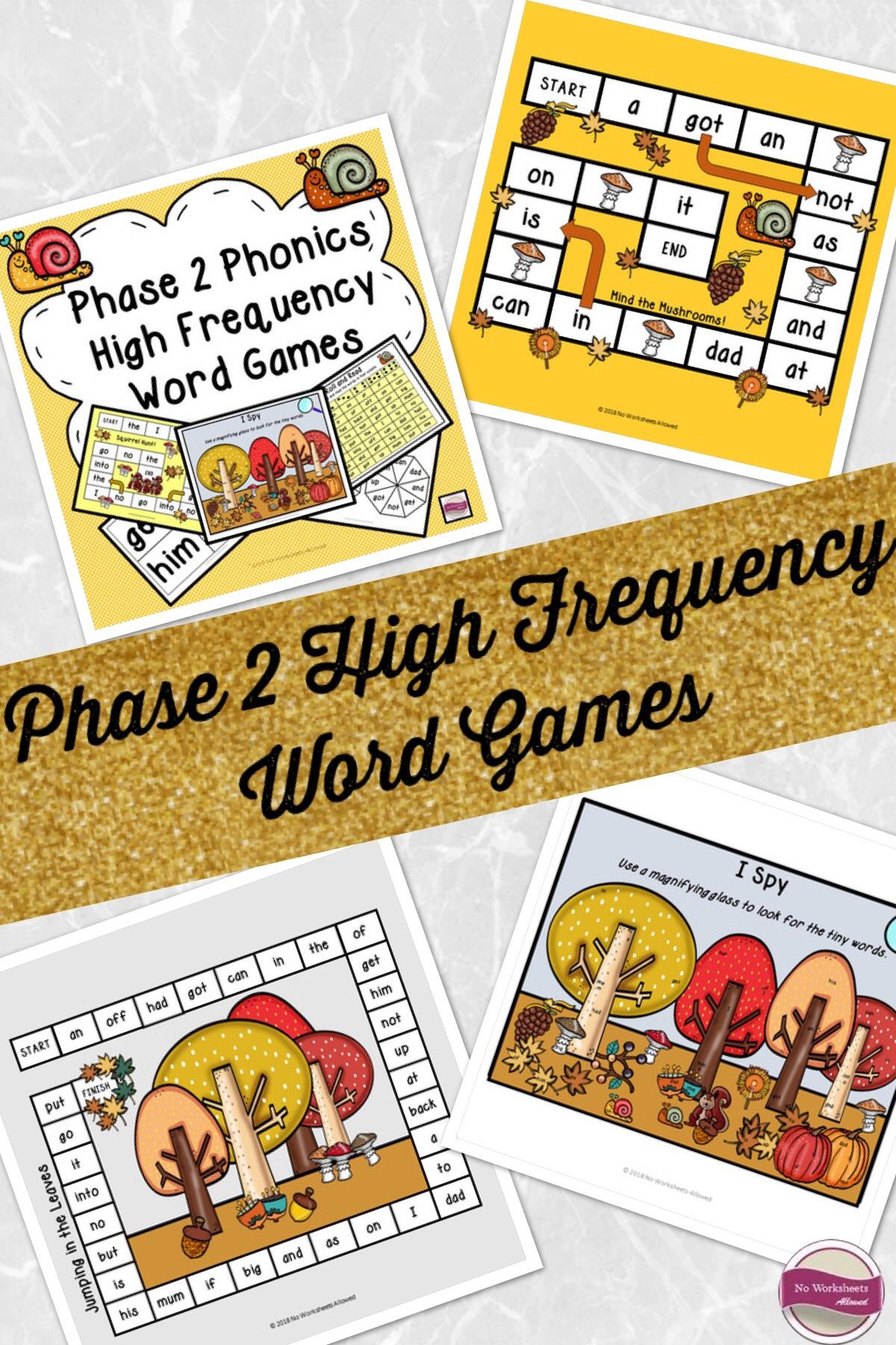 Phase 2 Phonics High Frequency Word Games Amp Activities