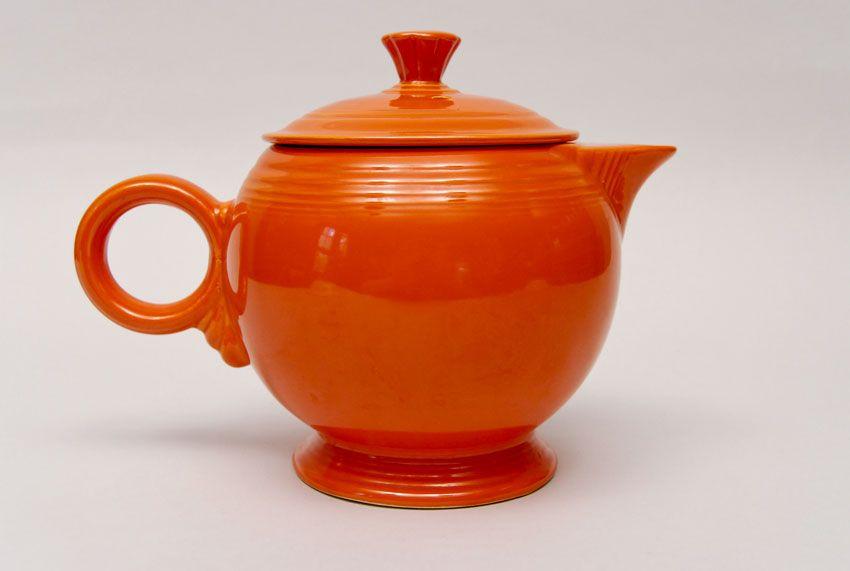 Red Vintage Fiestaware Large Teapot Tea Pots Tea Pots Vintage Fiestaware