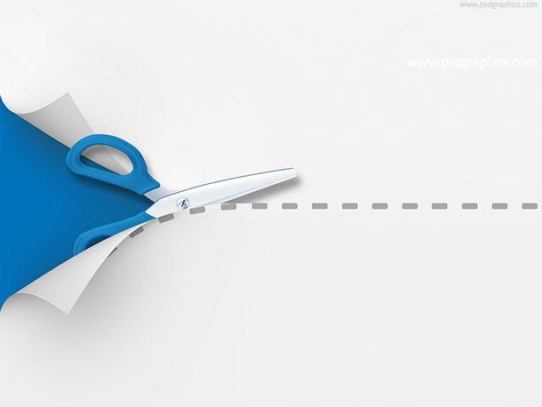 Scissors #free #PSD     wwwpsdgraphics templates - free white paper templates