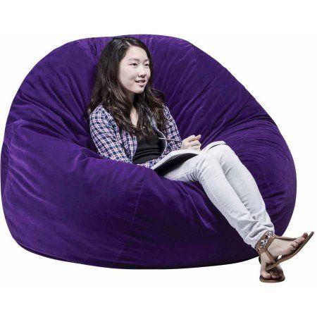 Cool Abilitations Fluffchair Large 50 Inch Diameter Purple Evergreenethics Interior Chair Design Evergreenethicsorg