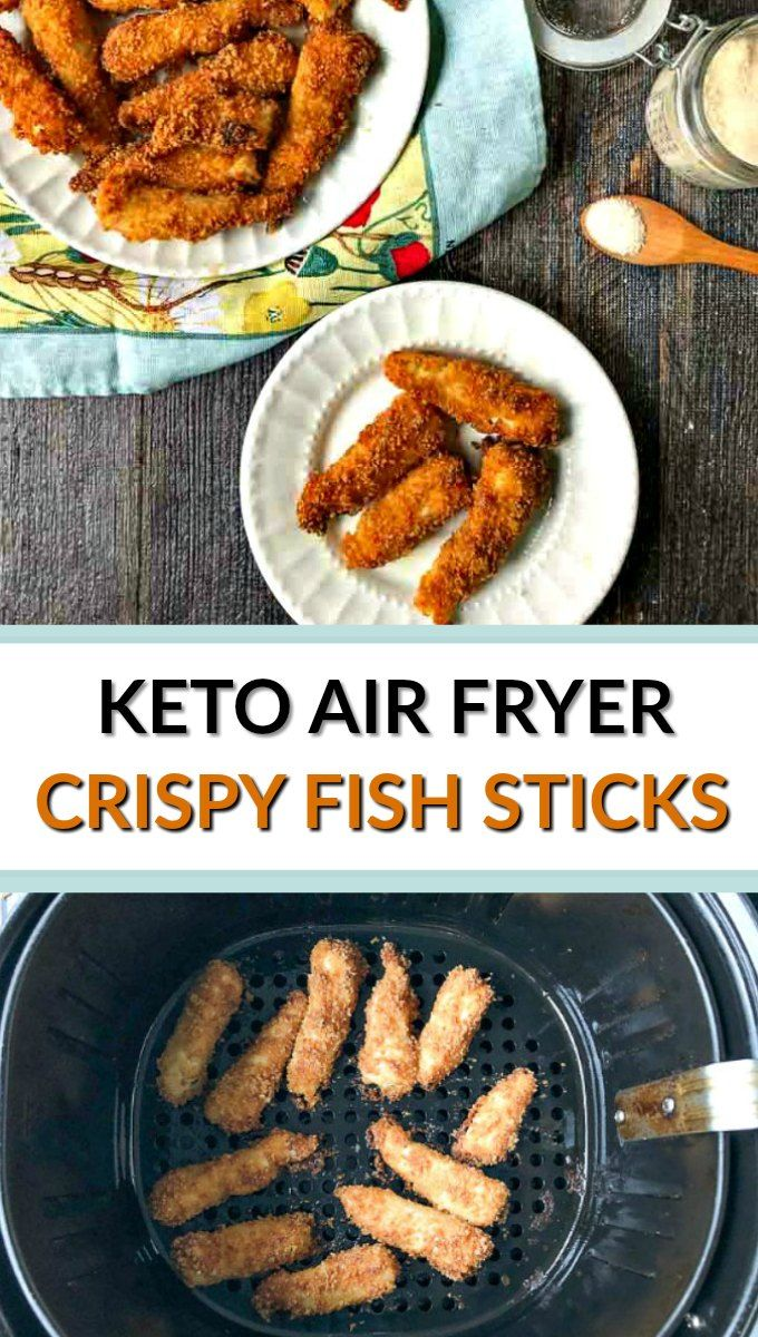 Keto Air Fryer Fish Sticks Recipe for an easy low carb