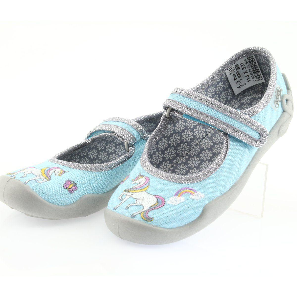 Befado Obuwie Dzieciece 114x331 Niebieskie Childrens Slippers Childrens Shoes Kid Shoes