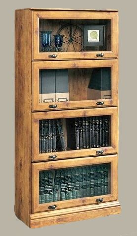 within sauder doors bookcases lane by with glass barrister bookcase