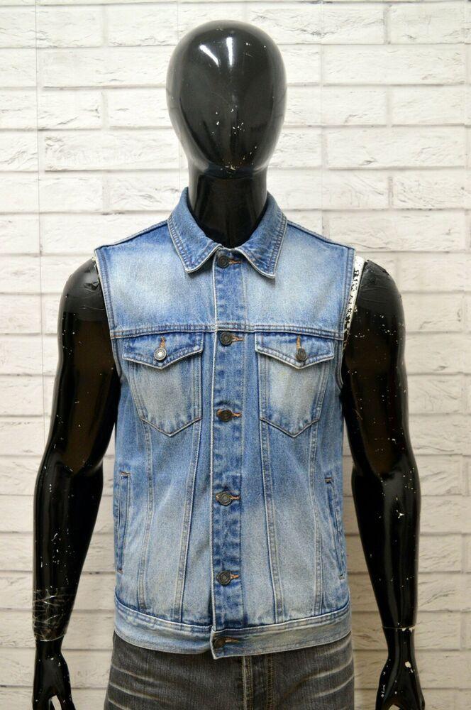 quality design 6d761 c5232 Giubbino Jeans Uomo PULL & BEAR Taglia M Blu Denim Giacca ...