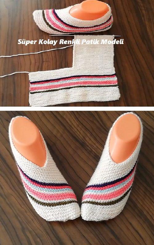 Modelo de botines coloridos súper fáciles