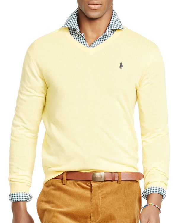 40ba8eb80d266 Polo Ralph Lauren Slim-Fit Merino V-Neck Sweater | fashion in 2019 ...