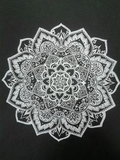Lovely Mandala Design   I Could Try Putting A White Mandala Design Onto A Black  Vinyl.