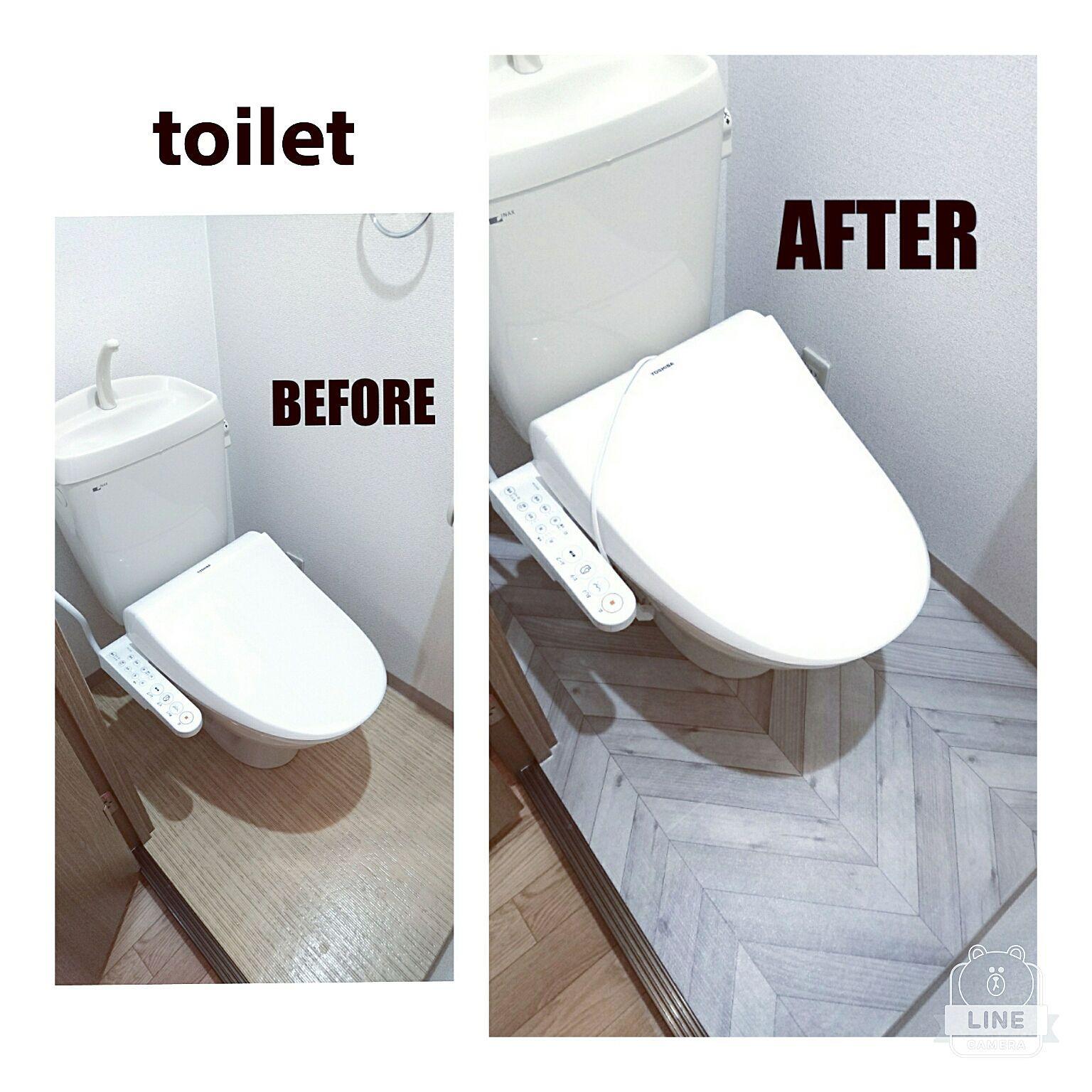 バス トイレ 自己流 男の子3兄弟 Diy お掃除 などのインテリア実例