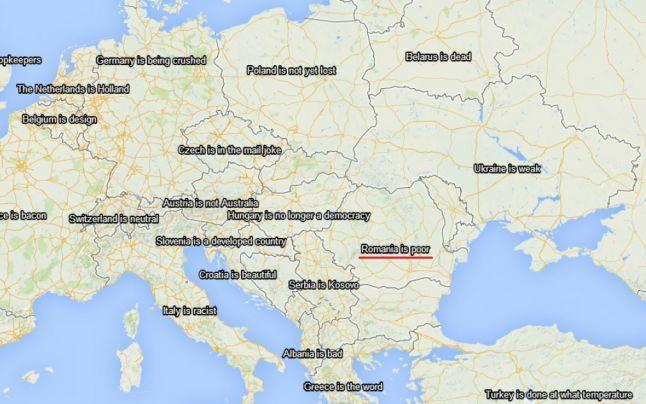 Harta Lumii Văzută De Lume Pe Internet Romania E Săracă Si