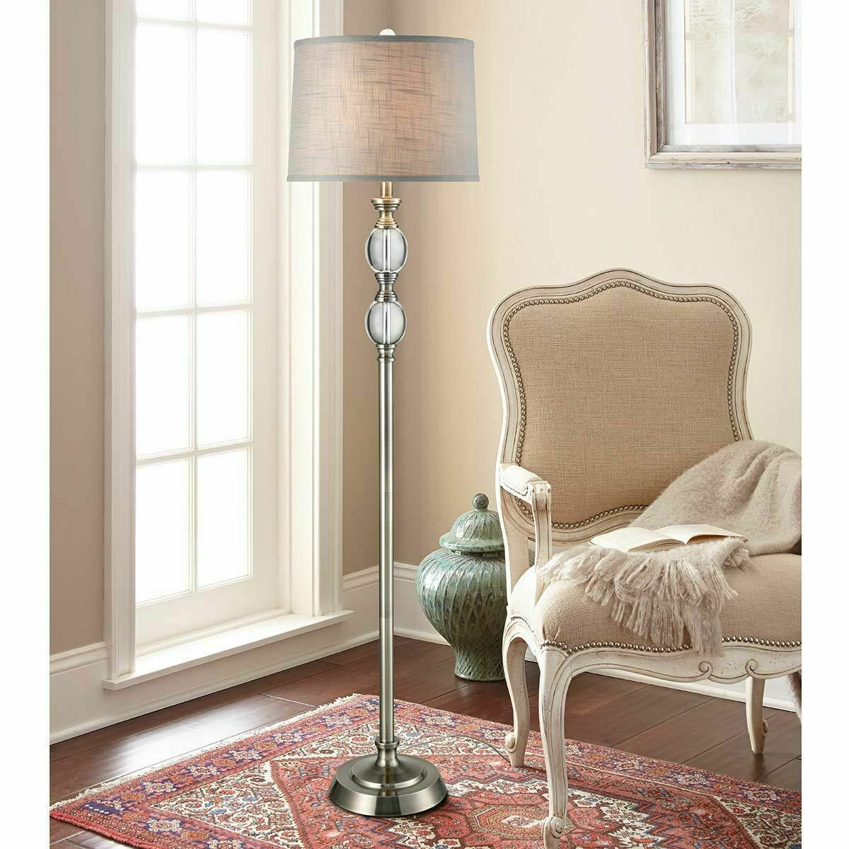 Details About Bouche Crystal Floor Lamp By Bridgeport Designs