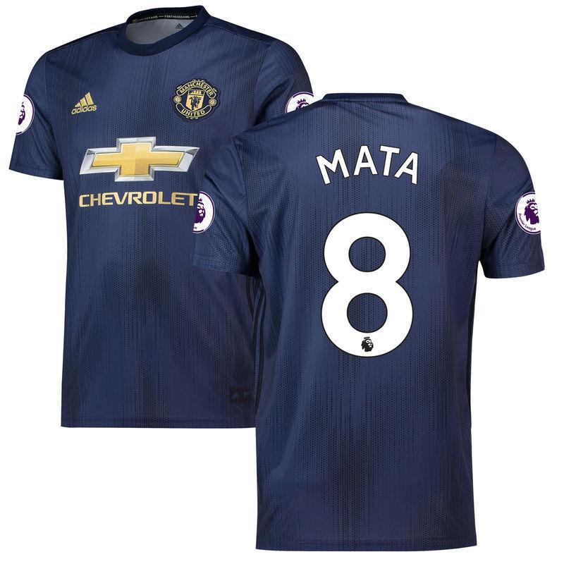 pretty nice 15700 59ec5 Juan Mata Manchester United adidas 2018/19 Third Replica ...