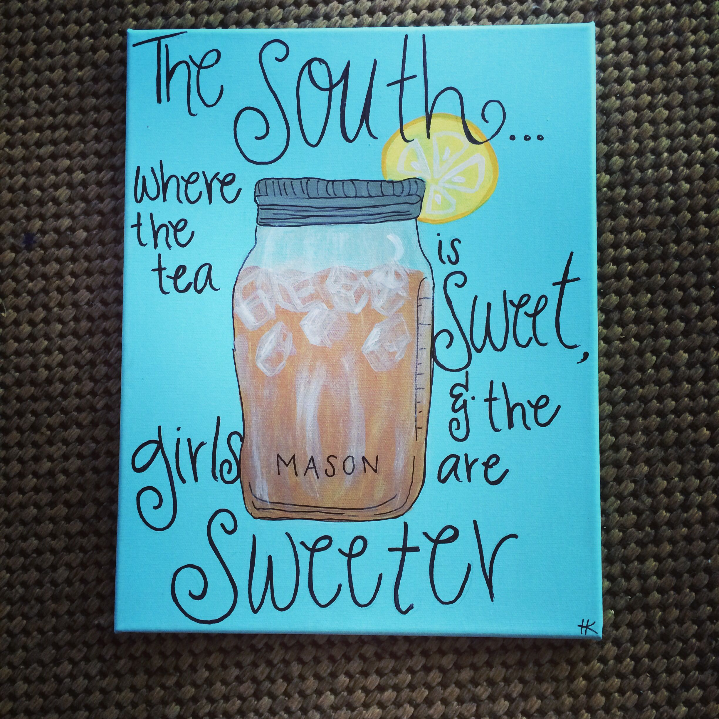 Dorm Room Art for a Southern Girl