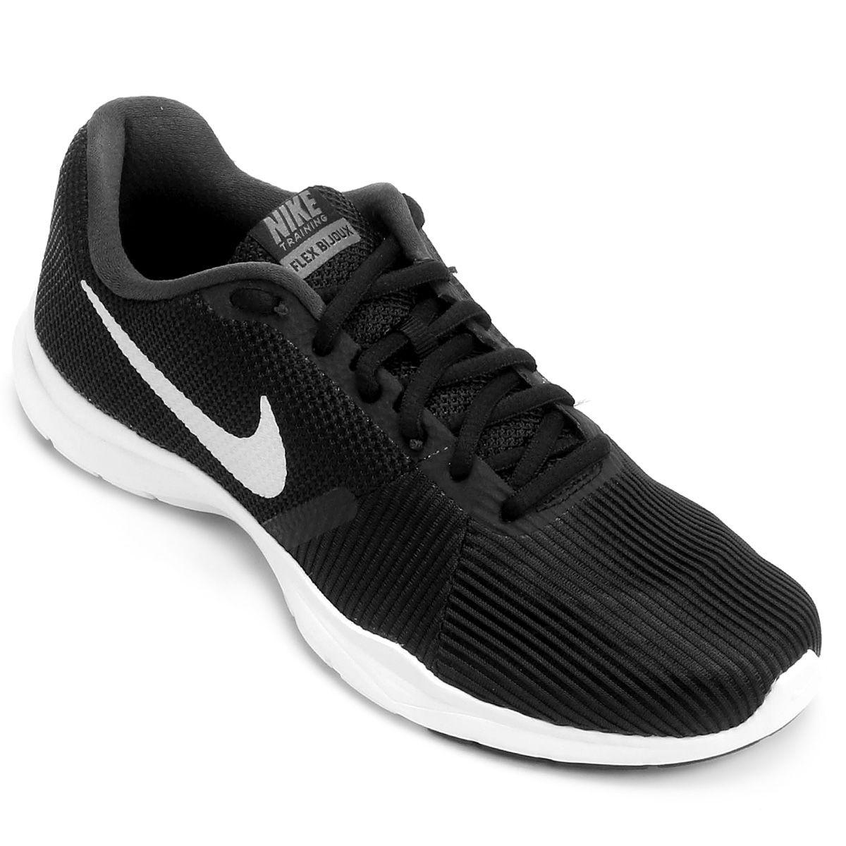 45dd322872 ... lebron james netshoes Tênis Nike Flex Bijoux Feminino - Preto e Branco .
