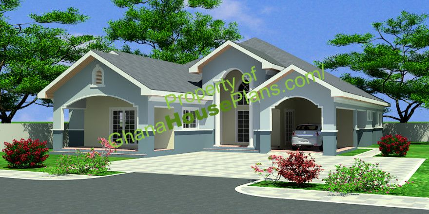 Architecture house plan house designs ghana house for Modern house plans in ghana