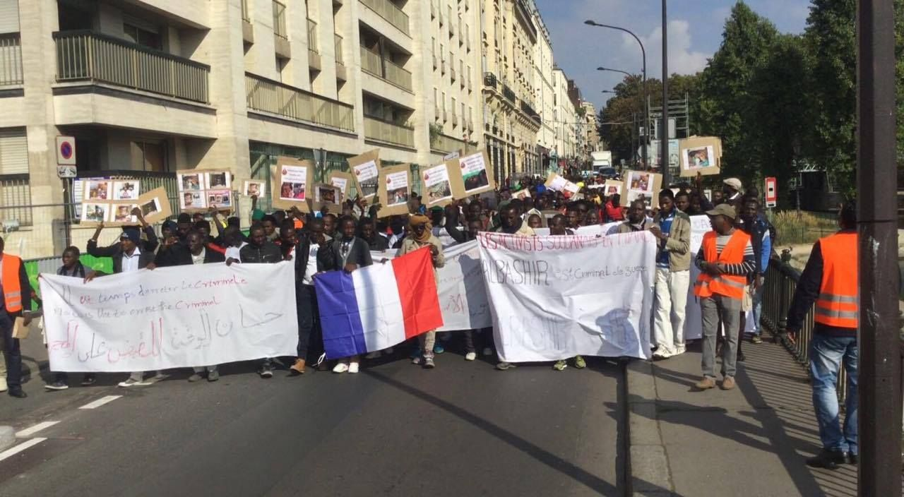 تقرير حول المظاهرة  النشطاء السودانين بفرنسا