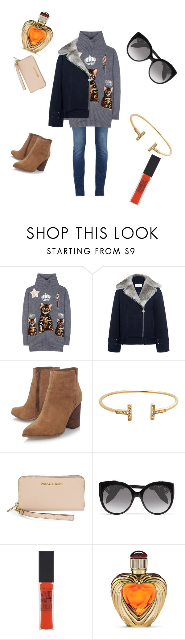"""For My 🐌"" by jzn0320 ❤ liked on Polyvore featuring Dolce&Gabbana, Carven, Nine West, Michael Kors, Alexander McQueen, Maybelline and Victoria's Secret"