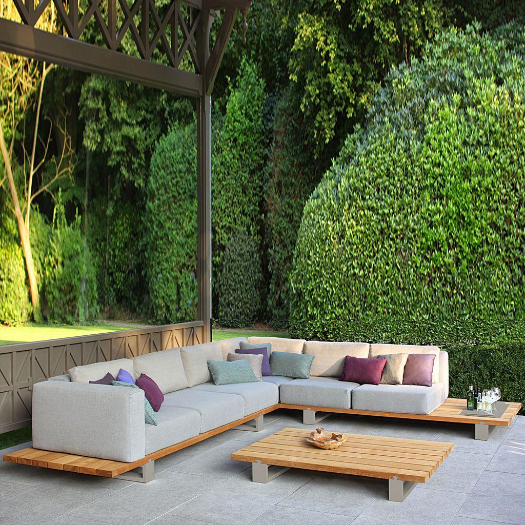 Luxury Modular Garden Sofa Royal Botania Vigor Outdoor Furniture Contemporary Outdoor Sofas Modern Outdoor Sofas Outdoor Sofa Sets