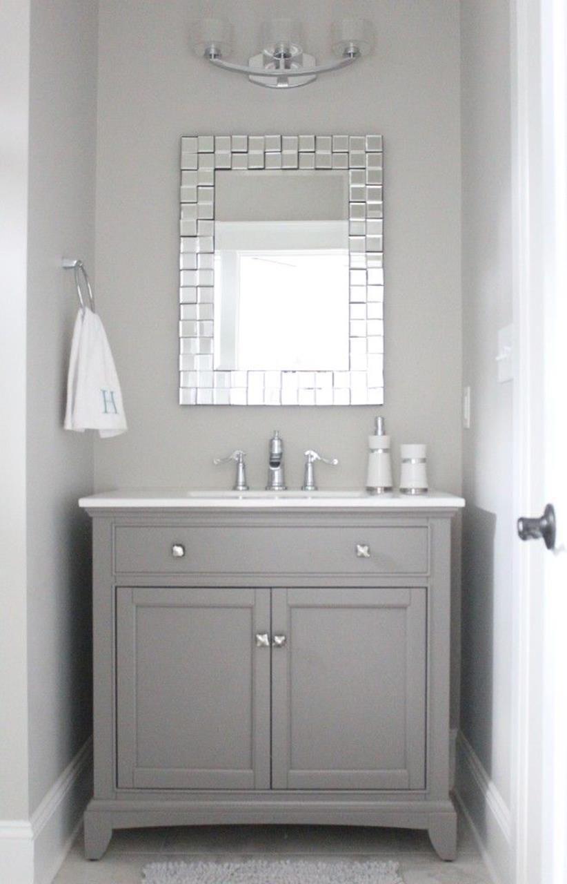Gray Half Bathroom Decorating Ideas On A Budget 19 | Bathroom ideas ...