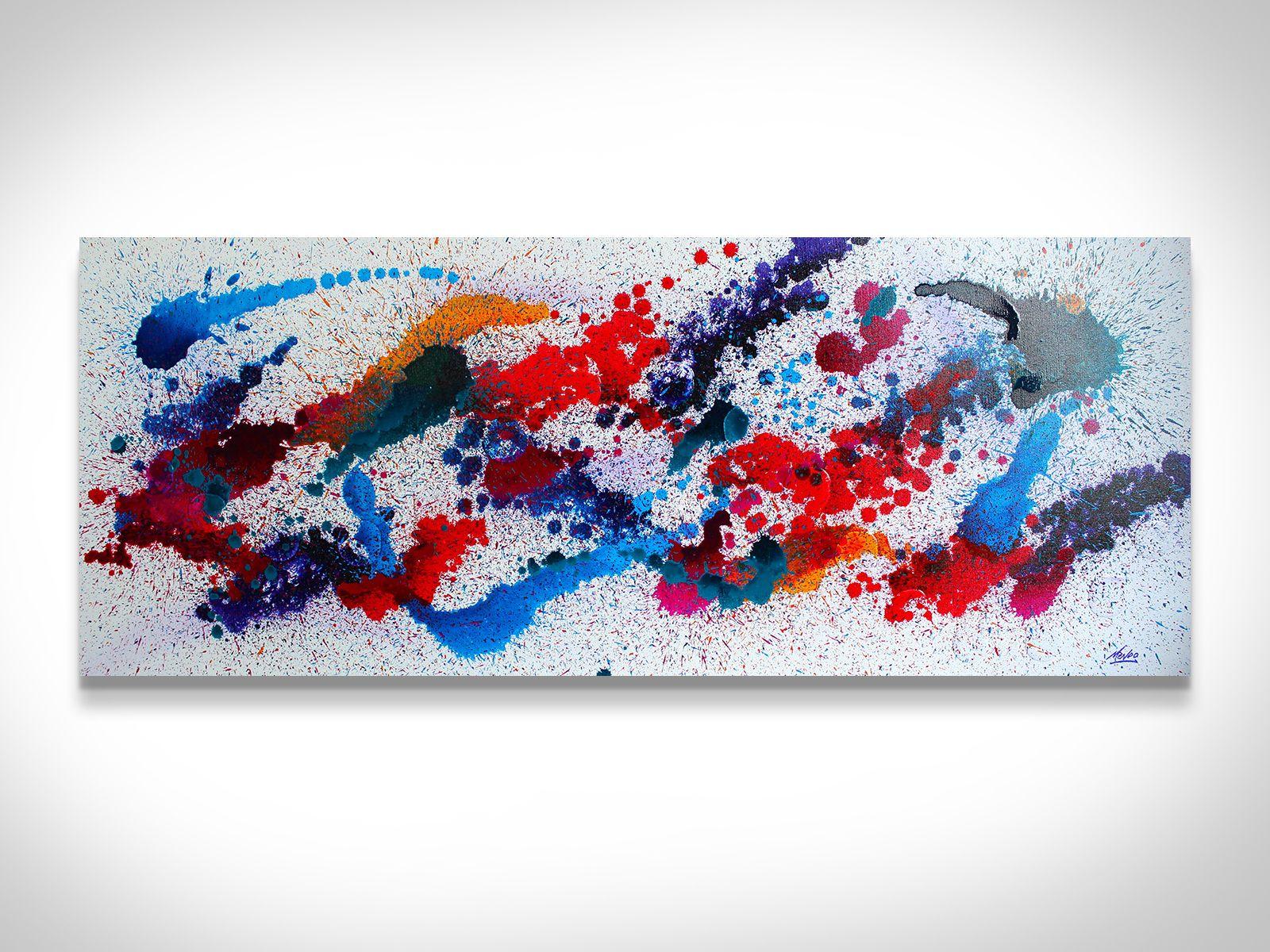 Mendo Vasilevski /'Color Splash/' Contemporary Acrylic Wall Art Giclee