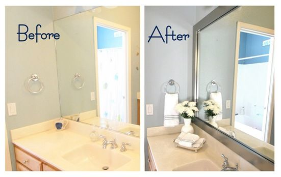 Frame The Dang Mirror Done This Easy And Looks Great Use Clear