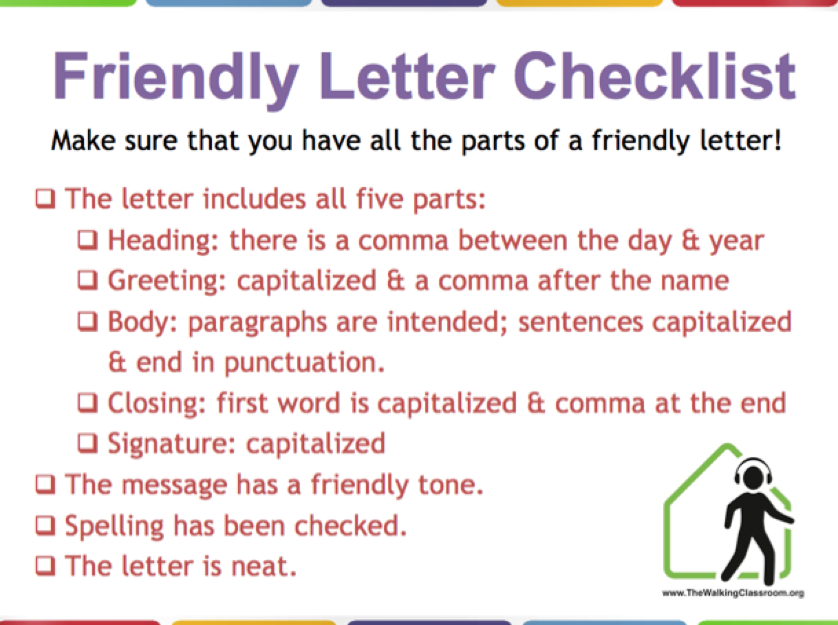 friendly letter lesson plan – help your students learn the format