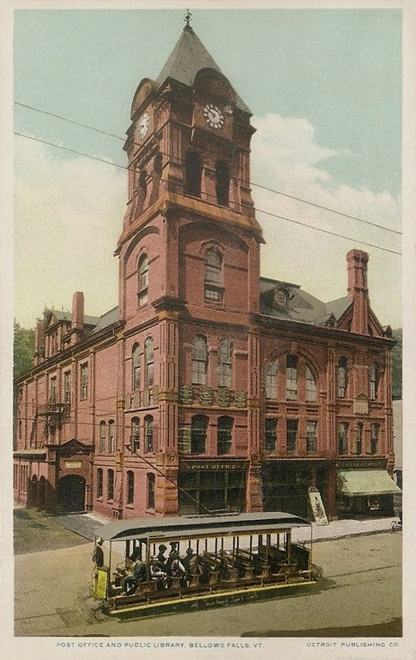 Pin By Kihm Winship On Post Office Postcards Bellows Falls Post Office Vermont