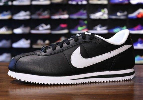 Nike Cortez White Black Leather