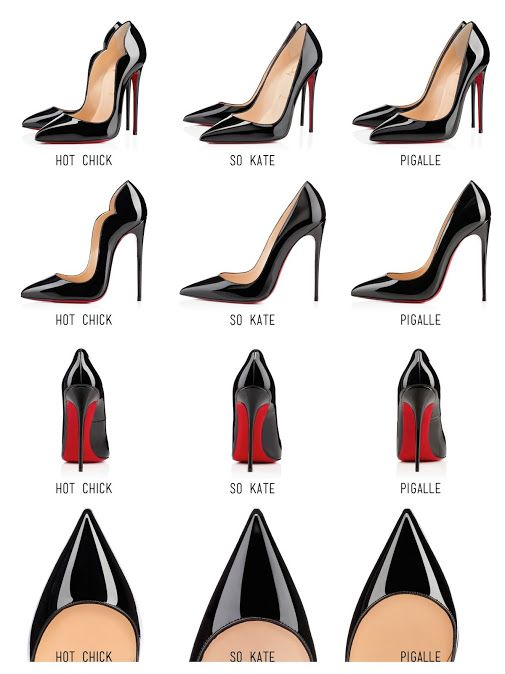 Christian Louboutin Hot Chick vs. So Kate vs. Pigalle Here is the  comparison… f7f61b625