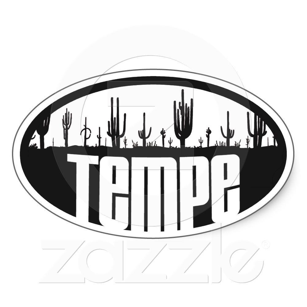 Tempe arizona oval sticker
