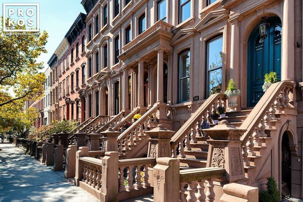 Hudson Street Brownstones Hoboken Framed Photograph By Andrew Prokos Brownstone Hoboken Hoboken Waterfront
