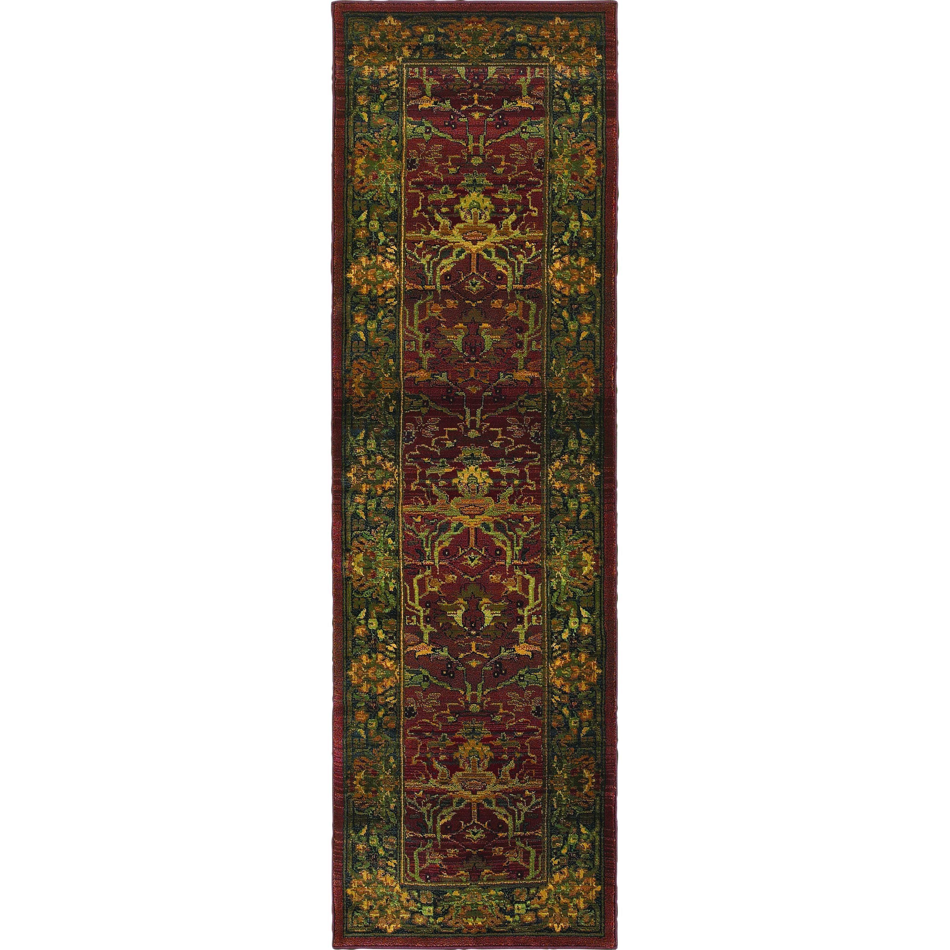 Oriental Weavers Kharma 465r4 Red Green Oriental Area Rug